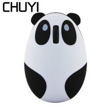 лучшая цена CHUYI Mouse 2.4Ghz Wireless Cute Cartoon Panda Shaped Mouse 1600DPI USB Optical Computer Gaming Mice for PC Laptop Kids Gifts