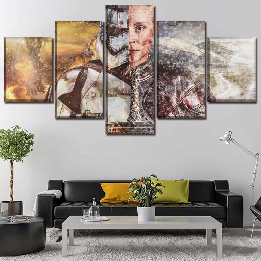 One Set 5 Panel Movie Crossover Poster Home Decorative Painting On Canvas Printing And On The Wall Art Decor Modular Picture