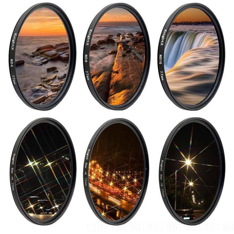 UV ND Bintang Filter Lensa Kamera untuk Canon Nikon 49 Mm 52 Mm 55 Mm 58 Mm 62 Mm 67 MM 72 Mm 77 Mm Kit D5300 D5100 DSLR Aksesoris