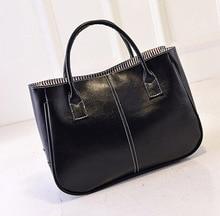 2016 Women PU Handbags Black Fashion Messenger bag Famous Brands Designer Handbags High Quality