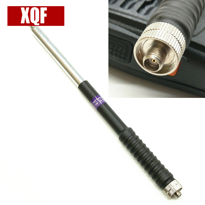 XQF FP10120 Télescopique Antenne SMA-F VHF 136-174 MHz pour Kenwood BAOFENG UV-5R BF-888S TWO Way Radio