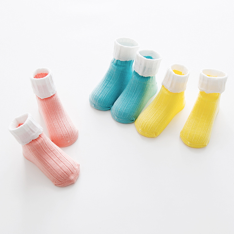 3 pairs/lot Baby cotton socks Girls Infant fashion Wild socks Summer New High quality Children Silicone non-slip kids socks CN
