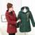 Bordado con capucha forro de lana gruesa mujeres largo invierno Parkas Plus tamaño 4XL 2017 color sólido Delgado ocasional de las señoras chaquetas de la capa