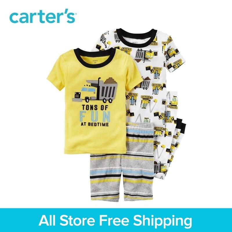 Carter's/4 шт., Детские хлопковые пижамы, 321G255, продается в официальном магазине carter's в Китае