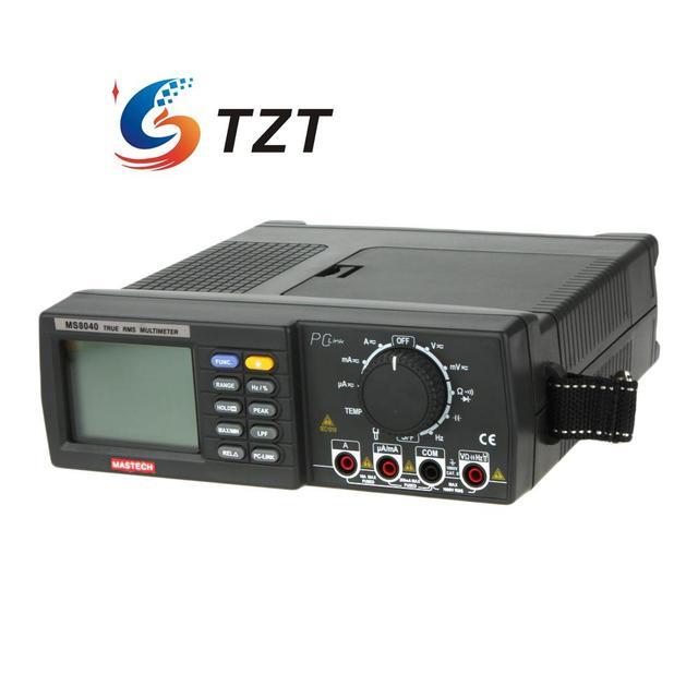 22000 Condes Multímetro Digital AC DC Tensión Corriente Rango Auto MASTECH MS8040 MULTÍMETRO RMS Filtrado de Paso Bajo