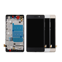 Free Shipping For Huawei P8 Lite Touch Screen Digitizer LCD Display Assembly Frame For Huawei Ascend