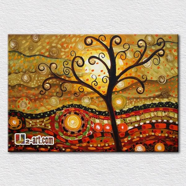 Árboles abstractos pinturas para sala de pared imágenes pintura al ...