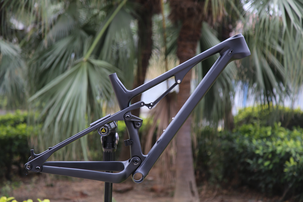 Full Suspension MTB carbon frame XC mountain carbon framset BB92 UD glossy matte can customzied paint
