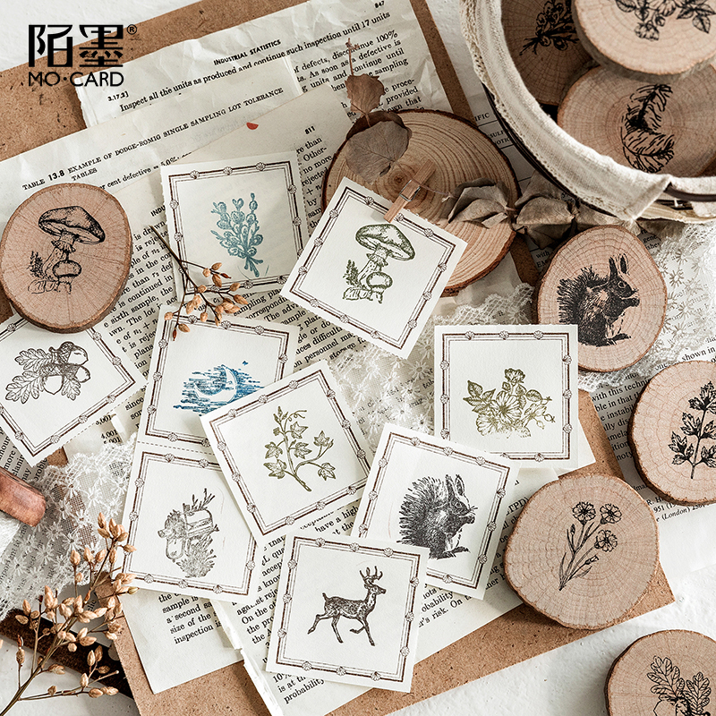 Cute Wooden Rubber Stamps Animals And Plants Patterns Stamps Set For Diy Craft Card Scrapbooking Supplies