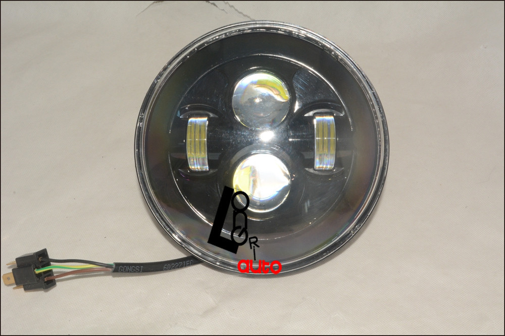 7 Inch Motorcycle LED Headlight Hi/Lo Beam Assemblies Lamp Projector For Harley