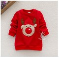 2016 New autumn and winter children's wear thick cartoon coat Chritmas Deer Pattern Hoodies Sweaters Clothes
