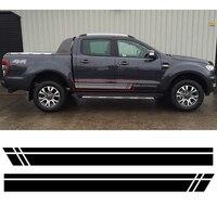 2 PC Gradient Side Stripe Graphic Vinyl Sticker For Ford Ranger 2012 2013 2014 2015 2016