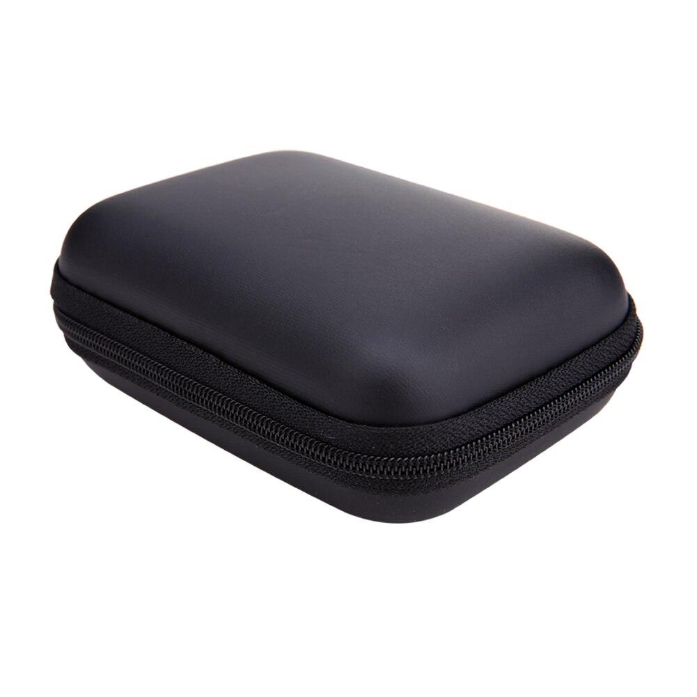 Storage Bag Mini Zipper Square EVA Case Headset Storage Box Bag Protective USB Cable Organizer Portable Earbuds Pouch Box