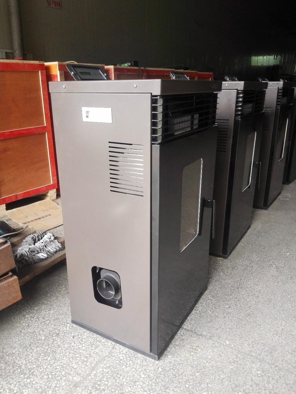 29 Kw Pellet Stove With Blowing Hot Wind System And Heating Water System
