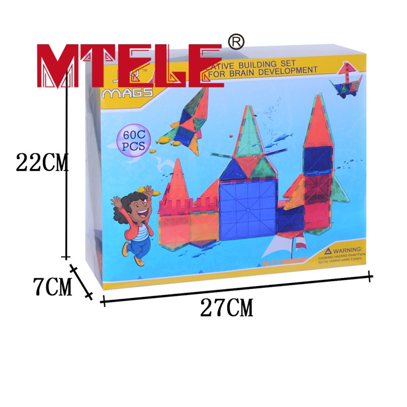MTELE Brand 62 PCS pcs Magnetic Tiles Designer Construction Kids Educational Toys Creative Bricks Enlighten Toy brand new yuxin zhisheng huanglong high bright stickerless 9x9x9 speed magic cube puzzle game cubes educational toys for kids