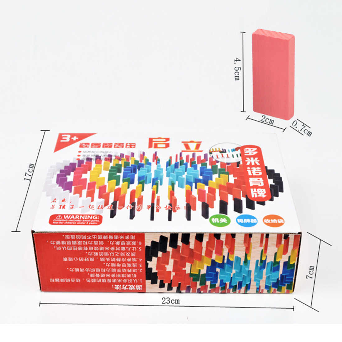 Surwish 200 шт деревянные кости Домино Набор для детские гоночные игры здание разведки и кубики для игр обучающая игрушка