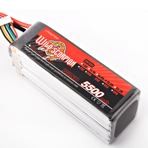 1pcs Wild Scorpion RC 18.5V 5500mAh 35C Li-polymer Lipo Battery Helicopter For RC Quadcopter Drone Helicopter Car Airplane цена 2017