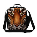Cool Tiger 3D print lunch bag for teen boys school,Personalized Adults food bag for work,Mens thermal lunch container with strap