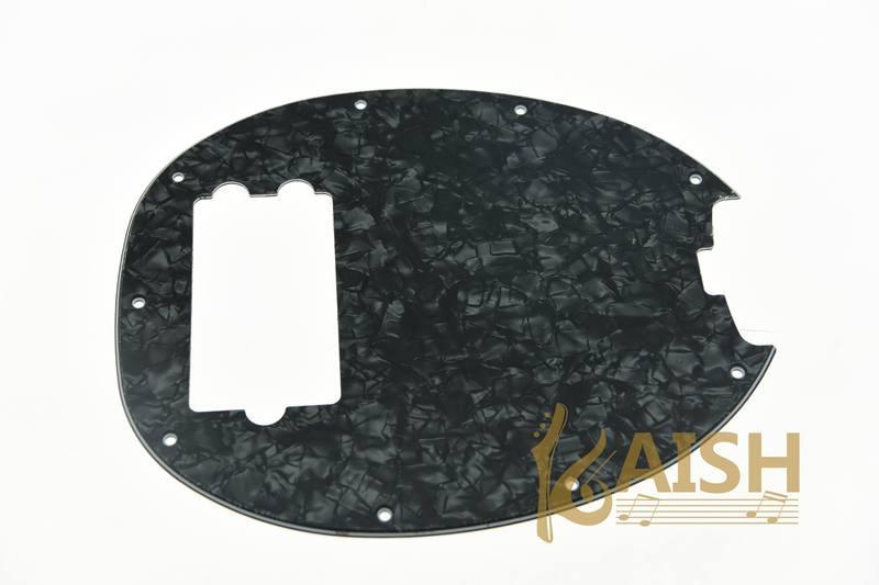 Bass Pickguard MusicMan Stingray MM4 Scratch plate for Music Man MM2 4 String Guitar Parts Black Pearl