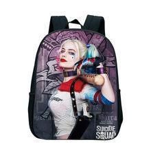 7dc498da07bd 12 Inch Suicide Squad School Backpacks Harley Quinn Daily Backpack Joker  Printed Kindergarten Casual Book Bags