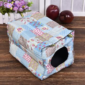 Hook Design Small Pets Cube Cotton Hamster House Cage For Small Animals Squirrel Guinea Pig Chinchilla Rabbit House Supplies 5