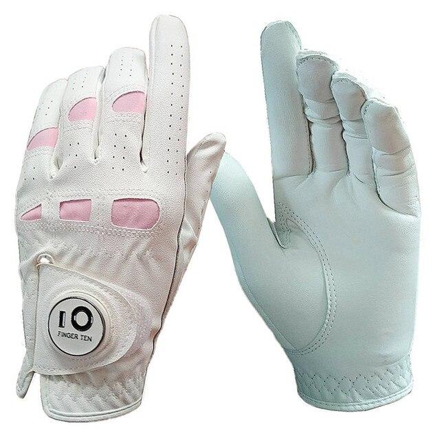 Женские перчатки для гольфа, правая рука, левая Rh Lh с шариковым маркером, искусственная кожа, прочная посадка XS, маленький средний большой XL, 1 шт.