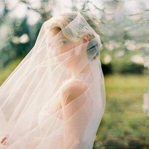 Image 5 - 6 10 15 20 30 מטרים חתונה תמונה מסיבת כלה ארוך במיוחד 6 10 15 20 30 M לבן רשת טול רעלה הכלה שנהב רעלות ללא מסרק