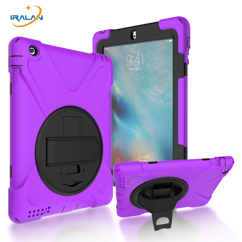 2017 new Kids Safe Silicon Shockproof Case for Apple iPad 2 3 4 360 Rotation with Hand Strap and Kickstand stand Cover+Film+Pen alabasta for apple ipad mini 1 2 3 case hand strap 360 degree rotation armor 7 9 inch kickstand pc silicone shockproof pen