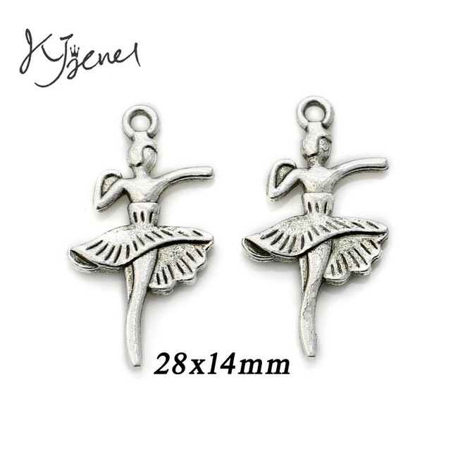 22becd322eab1 US $1.08 16% OFF|10Pcs/lot Antique Silver Plated Dancer Angel Wings Fairy  Charm Pendant Bracelets Necklace Jewelry Making Craft DIY 28x14mm-in Charms  ...