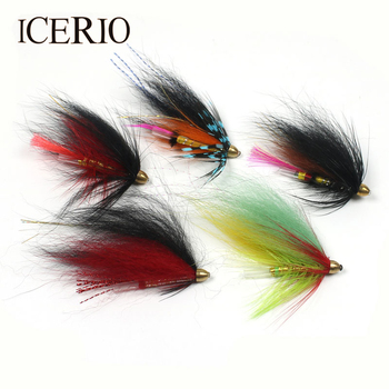 ICERIO 10PCS Fly Fishing Assorted Colors Conehead Tube Flies Salmon Trout Steel Head Tube Flies Lures image