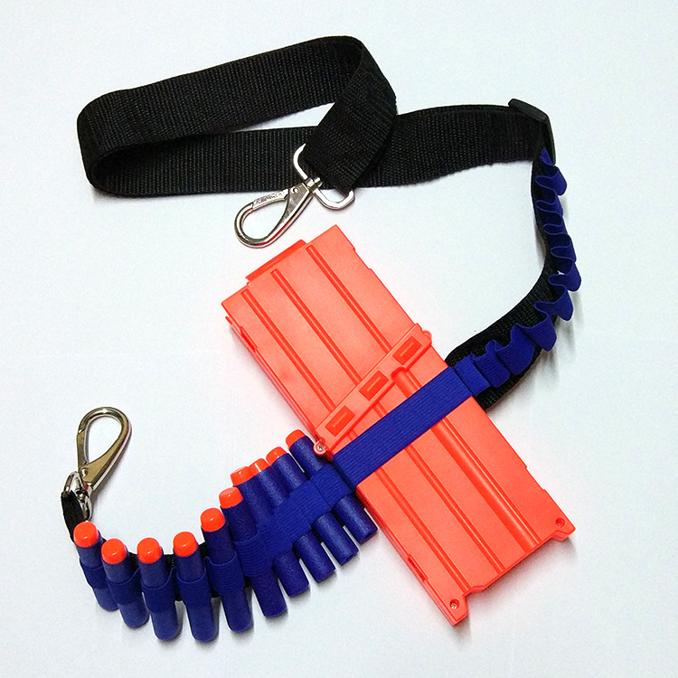 1pcs Blue Kids Toy Gun Bullet Shoulder Strap Darts Ammo Storage Holder paintball For Nerf toy