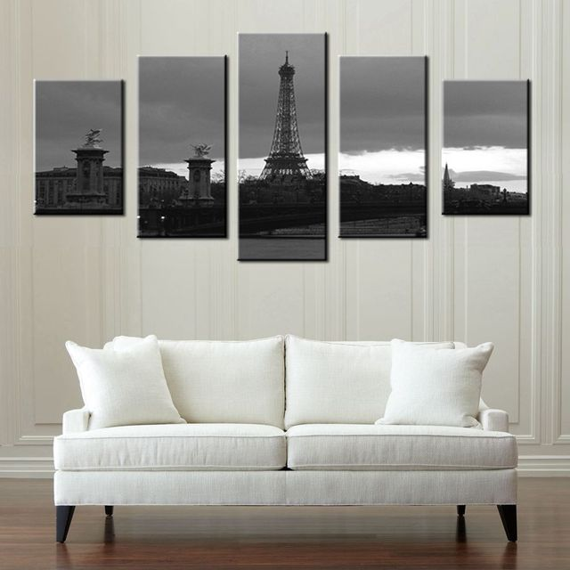 Tower Black White Photo Prints Canvas Painting Wall Art For Modern Office Bedroom Decor