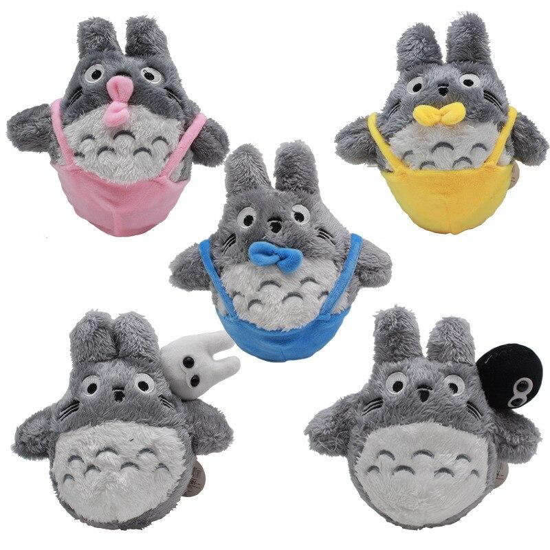 5pcs/lot 20cm Miyazaki Hayao Anime My Neighbor Totoro Plush Toys Doll Soft Stuffed Animals Toys for Kids Children Gifts 5pcs lot pikachu plush toys 14cm pokemon go pikachu plush toy doll soft stuffed animals toys brinquedos gifts for kids children