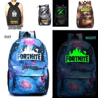Fortnite Battle Royale School Bag Noctilucous Backpack Student School Bag Notebook Backpack Daily Backpack