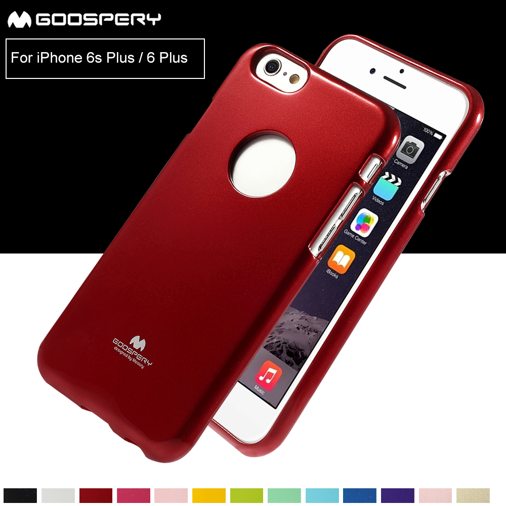 For Iphone 6 6s 7 8 Plus X Jelly Tpu Origianl Mercury Goospery Pearl Case Pink Cover Glitter Powder Skin