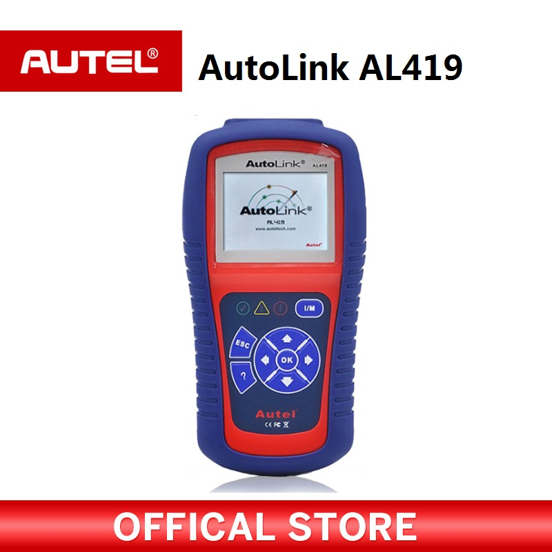 Autel Autolink AL419 OBDII CAN Scan Tool with TFT Color Screen Code Reader Troubleshooter code tips Auto diagnostic tool free shipping high quality autel autolink al301 obd2 can code reader auto link al301 auto diagnostic scan