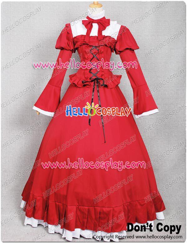 Pandora Hearts Cosplay Costume Alice Red Dress H008