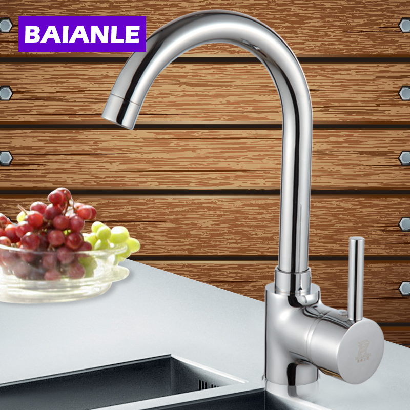 Kitchen Faucet Classic Hot and Cold Water Brass Kitchen Sink Tap Mixer Process Swivel Basin Faucet 360 Degree Rotation купить в Москве 2019