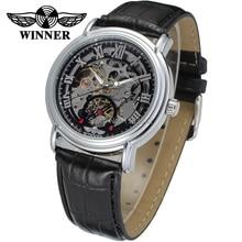 Новый Победитель Повседневная Автоматические Часы Мужчины Горячие продажа серебряный Автоматические моды для Мужчин Смотреть кожаный ремешок Доставка Бесплатно WRG8075M3S1