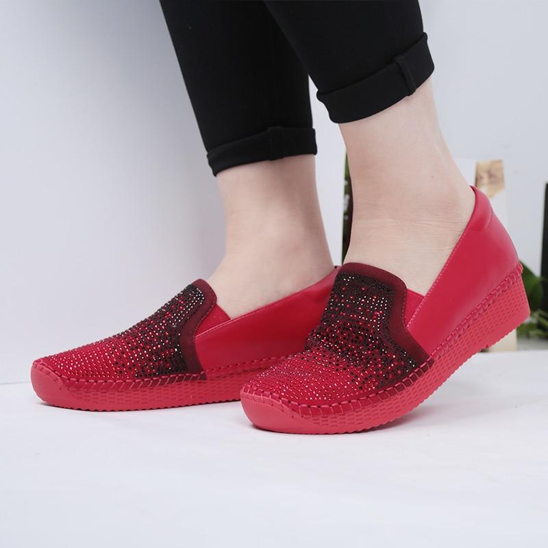 Shunagfeng 2018 حار بيع الجلود منصة حذاء - أحذية المرأة