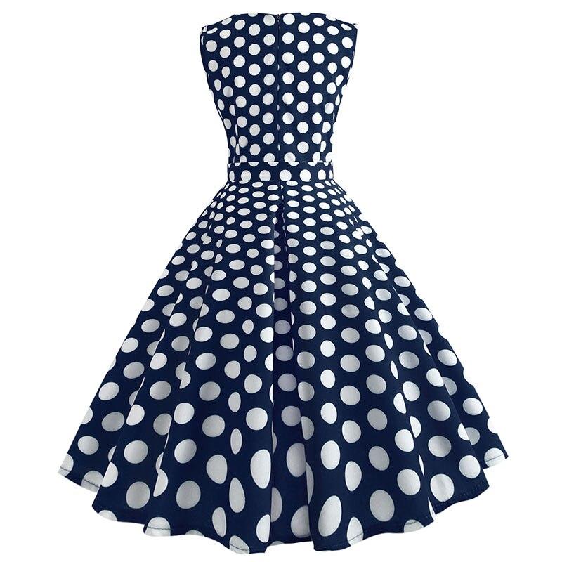 Retro letné párty šaty 1950 s bodkami Swing style (8 variánt) 27
