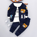 Marca novo bebê meninos conjunto de roupas de Outono 2016 moda estilo casaco com calças de algodão do bebê roupas A082