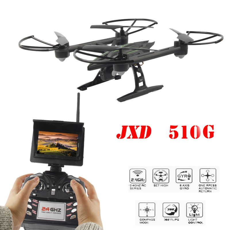 JXD 510G JXD510G 5.8G FPV One-Key-return & Take Off Barometer Set High RC Quadcopter with HD Monitor RTF