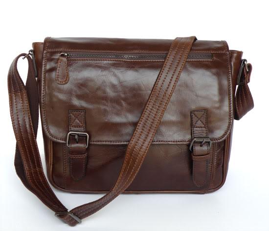 J.M.D  High Quality Genuine Leather Simple Design Fashion Men's Business Shoulder Bag Chocolate Crossbody Messenger Bag 7022Q xyx q simple