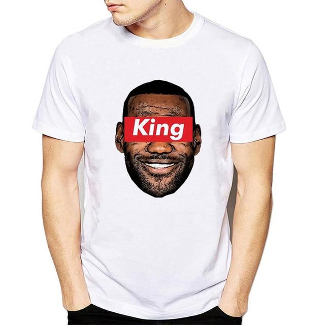 54af9c3ae190 King Lebron James Print Fashions Hip Hop White T-shirt Men 2019 Cool Boy T