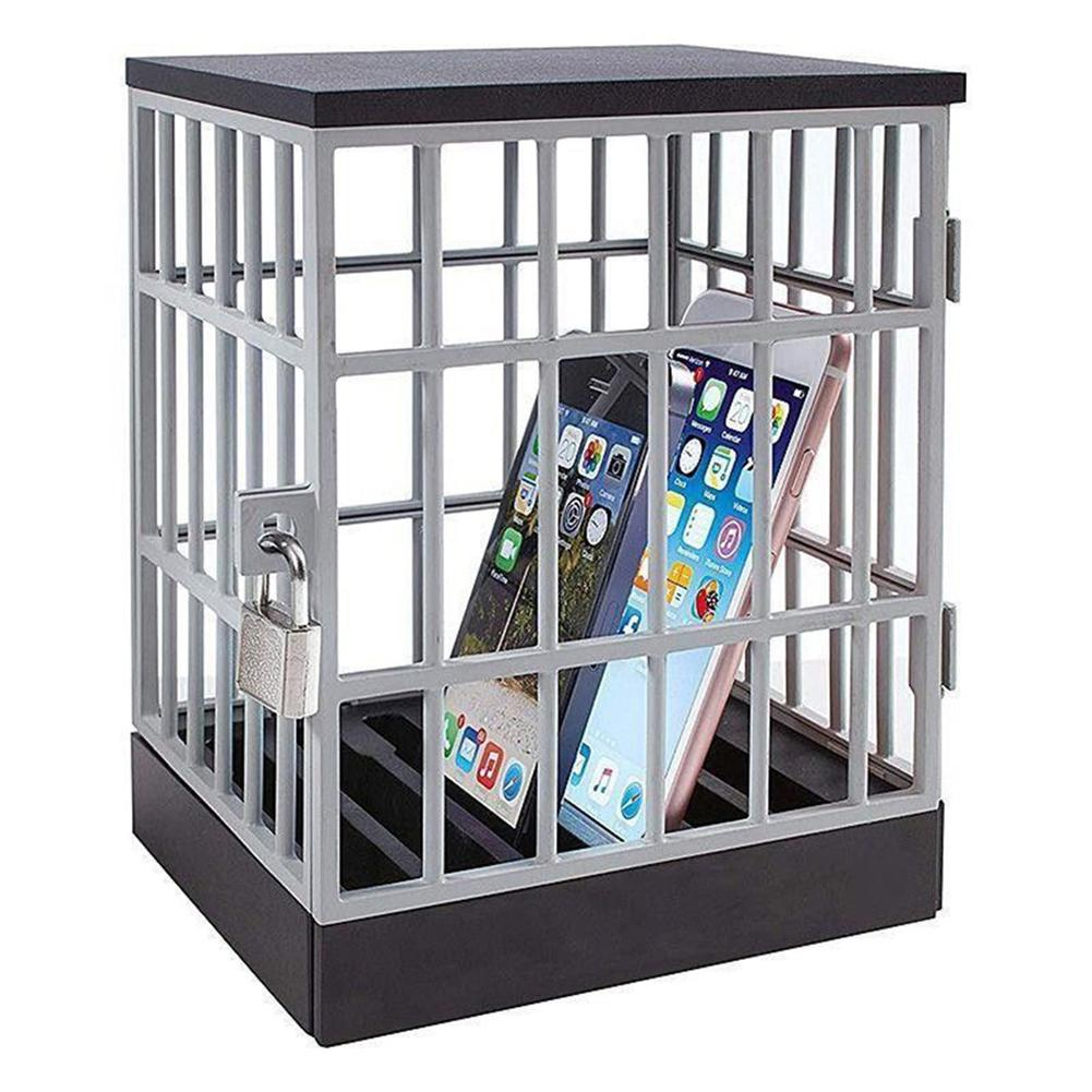 Portable Lock Up Mobile Phone Jail Cell Party Lightweight Storage Cage Holder antistress brinquedos for Kids Adults party Play in Gags Practical Jokes from Toys Hobbies