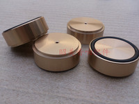 A Set of Amplifier Full Aluminum Pads 4 pcs Silver / Gold / Black Aluminum Feet Diameter:58mm Height:22mm