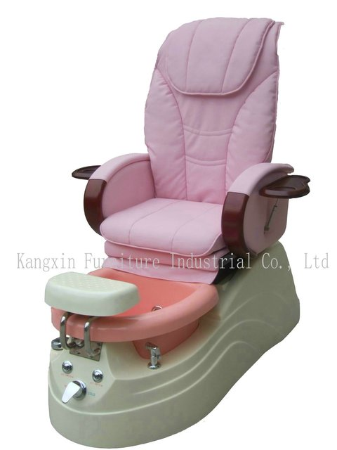 Luxury relaxing Salon foot spa massage pedicure chair for any belle, with manicure tray,7color LED lamp,soft whirlpool