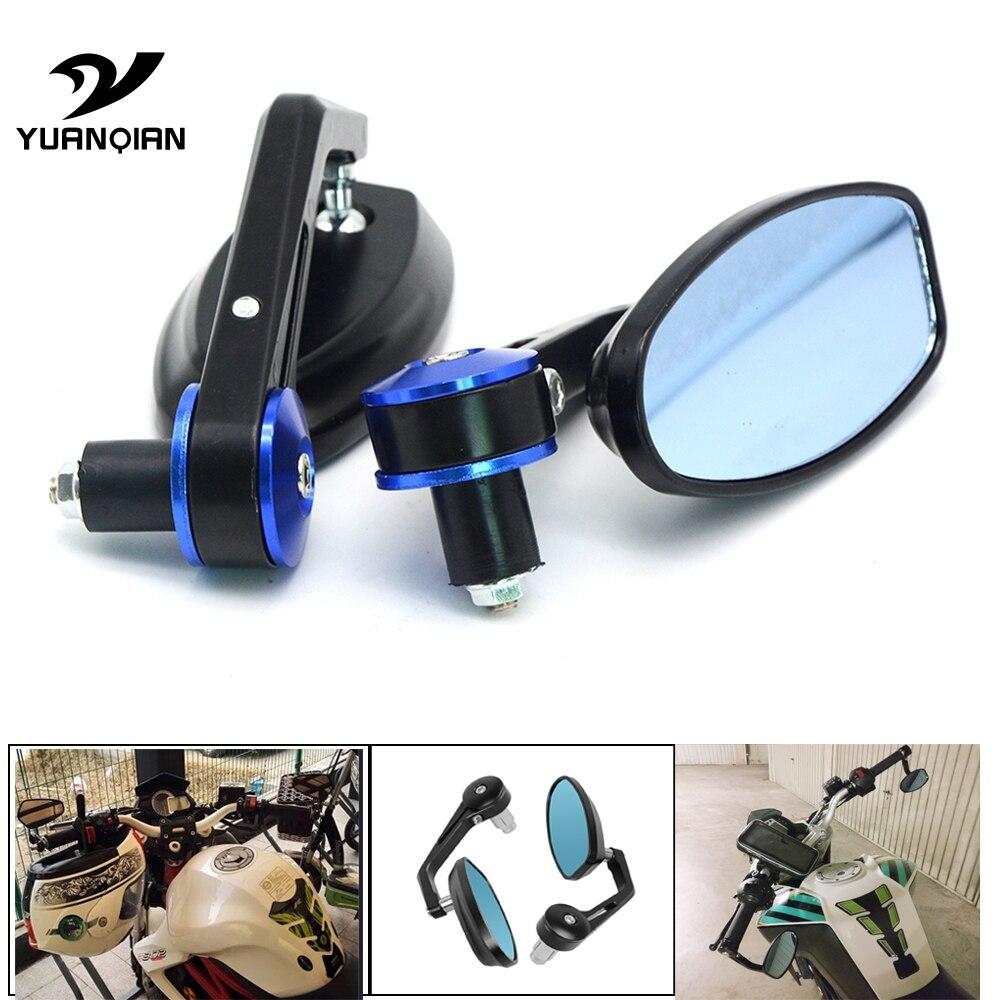 "Universal Motorcycle Mirror View Side Rear Mirror 7/8"" 22mm Handle bar For SUZUKI HAYABUSA SFV650 GLADIUS SV1000/S TL1000R"