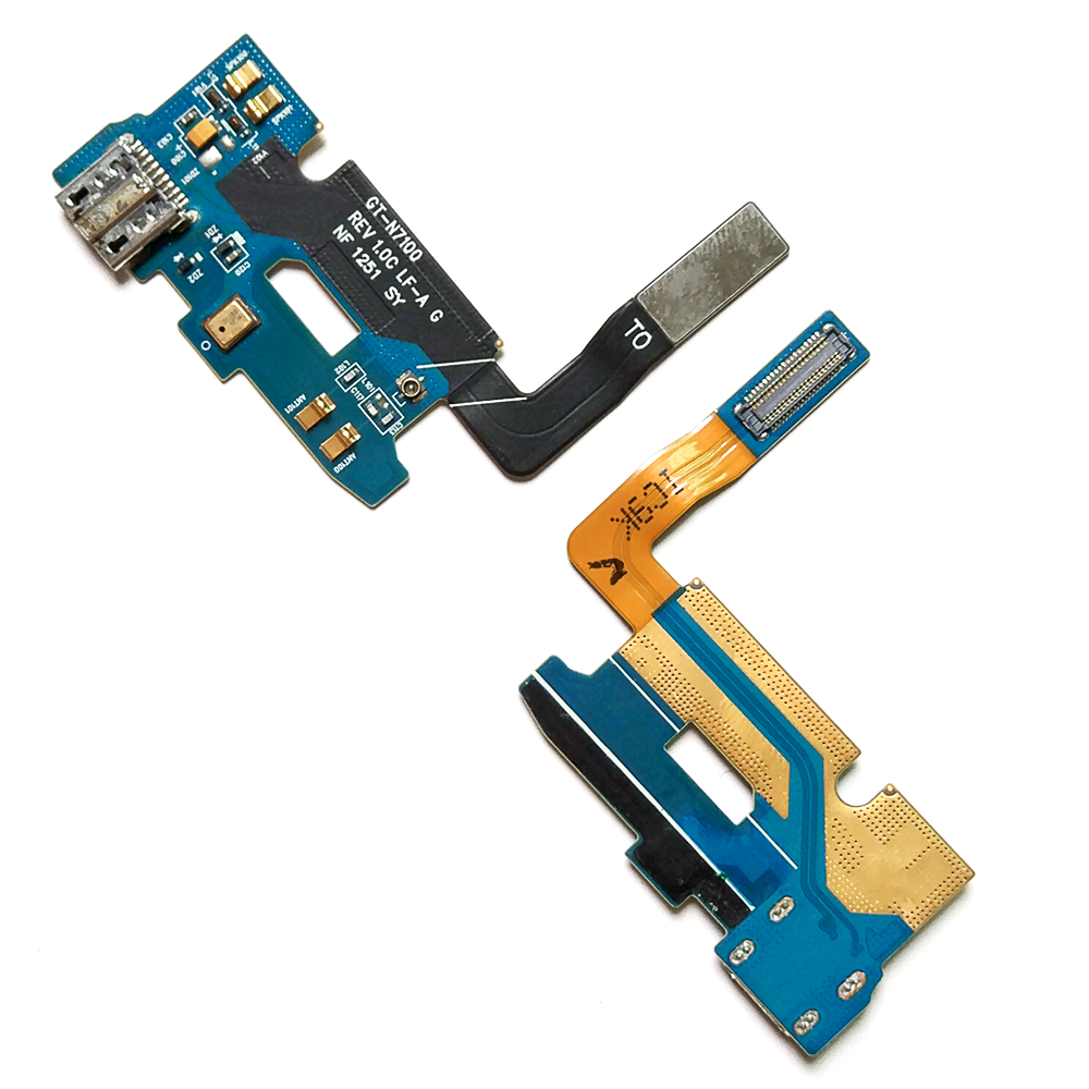 5pcs lot New USB Charging Dock Flex Cable For Samsung Galaxy Note 2 N7100 Charger Port Connector Board Replacement Parts in Mobile Phone Flex Cables from Cellphones Telecommunications